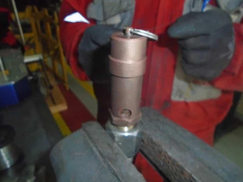 calibração de válvula