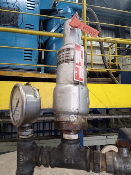 válvula de segurança com placa